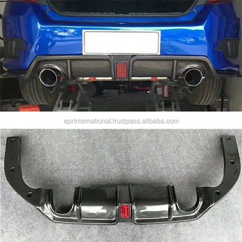 For Honda 10th Generation Civic FC SC-Style Rear Diffuser With Light Double Single Exhaust