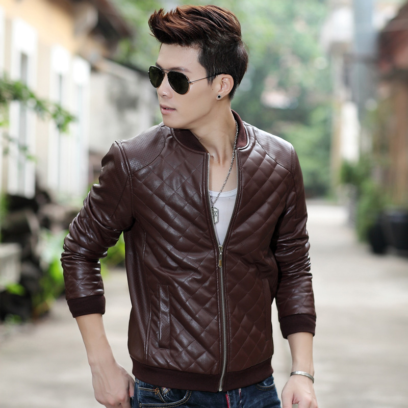 Brown Slim Fit Jacket For Boys/pure Fine Leather Jacket/new ...