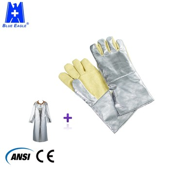 Blue eagle aluminized heat welding protection gloves
