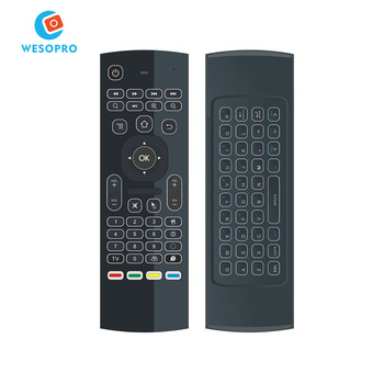 Wesopro Air Mouse Remote Control For Samsung Smart Tv Wireless Air Mouse  Qwerty For Windows Pc Linux Android Tv Box Ps3 - Buy Mx3 2 4g 3d Air