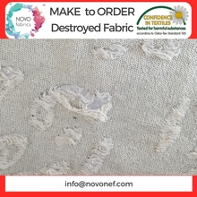 Distressed knit fabric destroyed knitted fabric