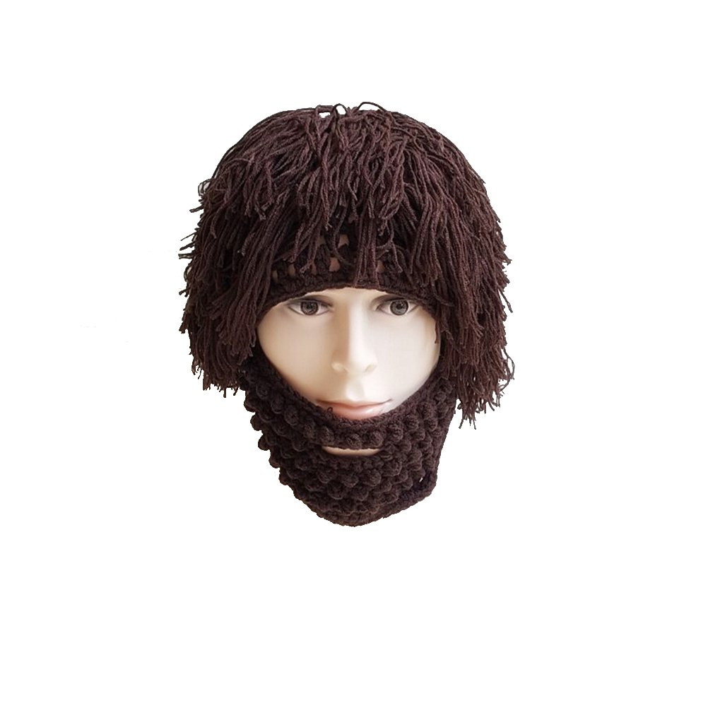 42c5338b4e1 Get Quotations · Tinksky Wig Beard Hats Knit Beard Mask Warm Winter Caps  Funny Mask Beanie christmas gift for