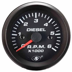 52 mm Aluminum Rims diesel engine tachometer Gauge Pointer Automobile Tachometer