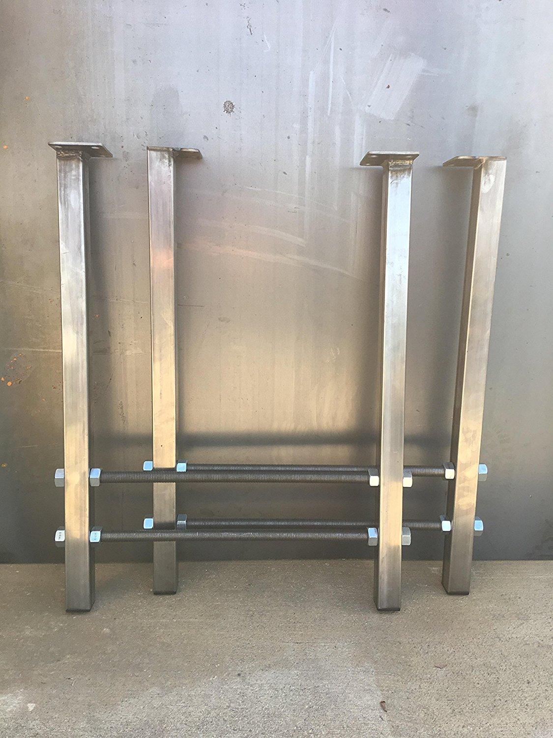 H shape metal legs, double threaded rod steel legs, metal table legs, coffee table legs. metal legs for furniture.
