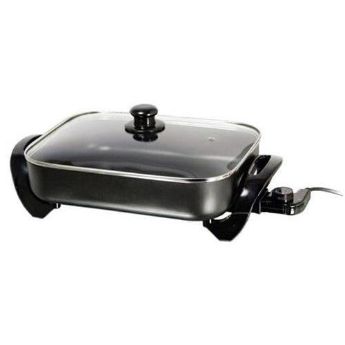 """Brentwood Electric Skillet With Glass Lid (1,400W; 16); """"Product Category: Kitchen Appliances & Accessories/Small Kitchen Appliances"""""""