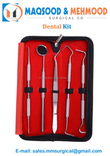 5X Stainless Dental Tool Kit Dentist Teeth Hygiene Pick Mirror Oral Care W&T