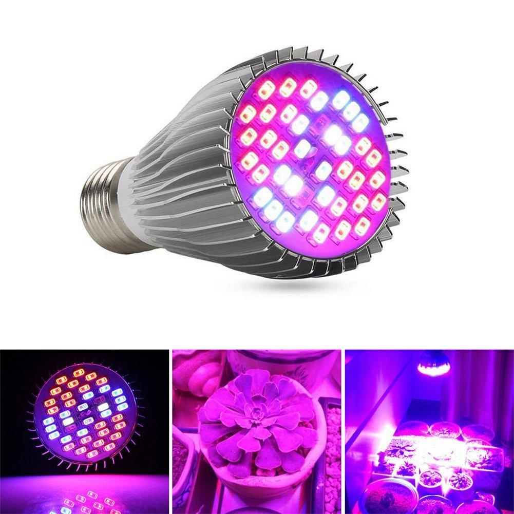 Zehui LED Plant Growth Lamp Full Spectrum E27 LED Flower Plant Grow Light Growing Lamp Light Bulb 30W