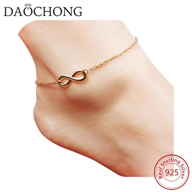 Hot Sale New Silver Ankle Bracelet Fine Jewelry Fine Anklets
