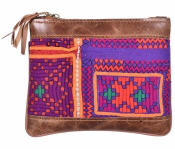 02e63c14e012 Индийский вышивка дизайн традиционные модные аксессуары клатч Сумки для  женщин кожа Сумочка