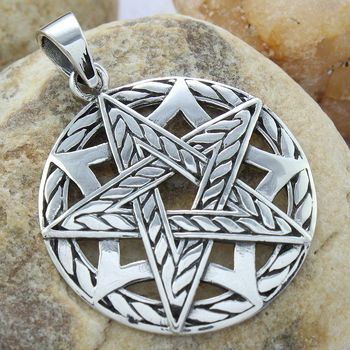 Star design fine plain silver pendant 925 sterling silver jewelry wholesale Indian silver pendant