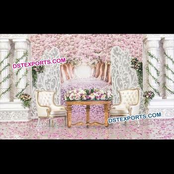 Victorian Style Wedding Stage Decor Wedding Fiber Roman Pillars