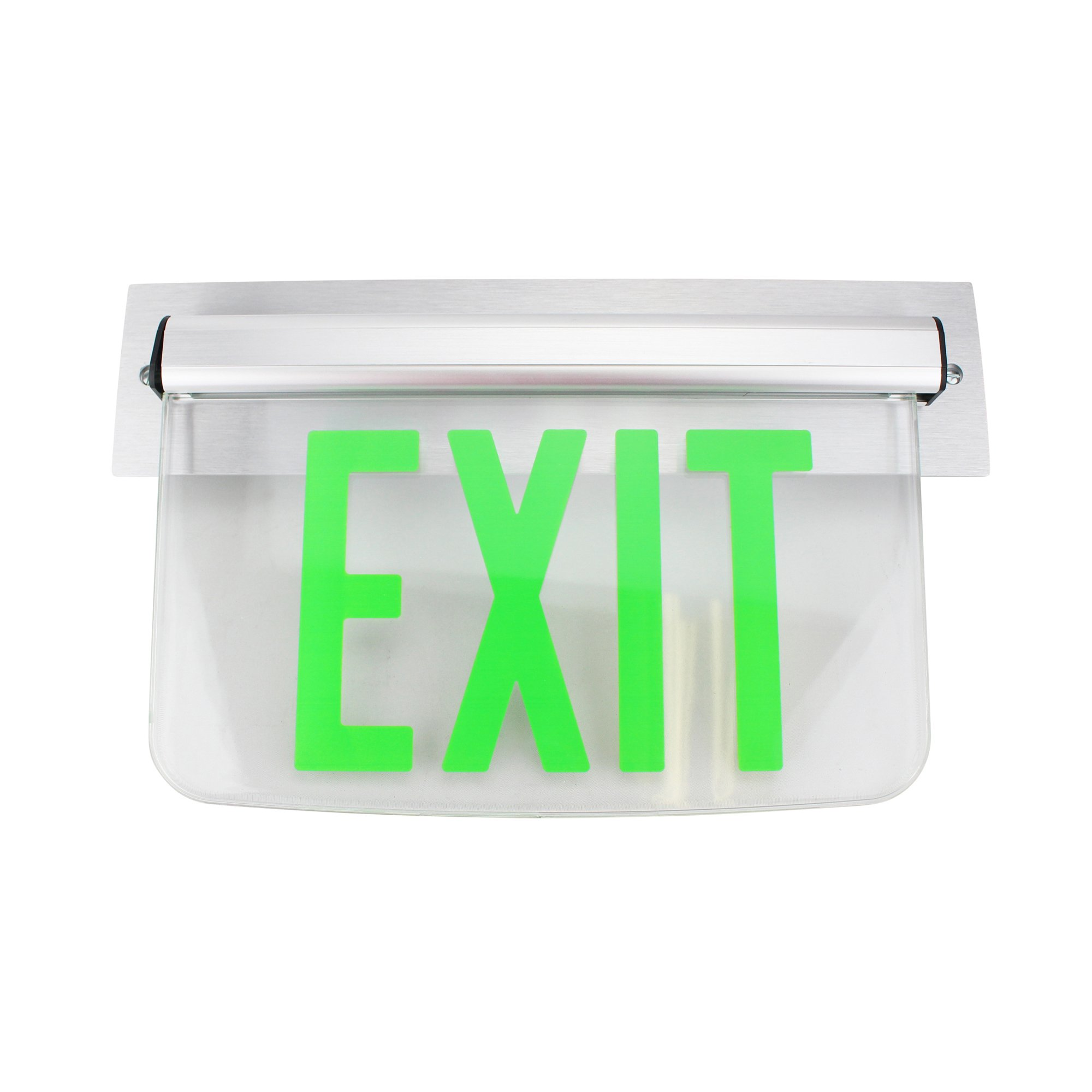 Dual Lite Hubbell Lewsgxna Le Series Edge-Lit Led Exit Sign, Wall Mount, No Arrow, Green