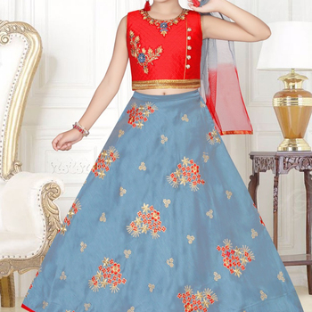 Kids Girls Party Designer Lehenga Choli Designs View Kids Lehenga Chaniya Choli Dot Exports Product Details From Dot Exports On Alibaba Com
