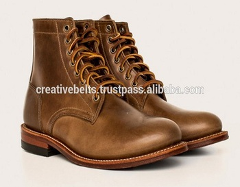high ankle shoes leather