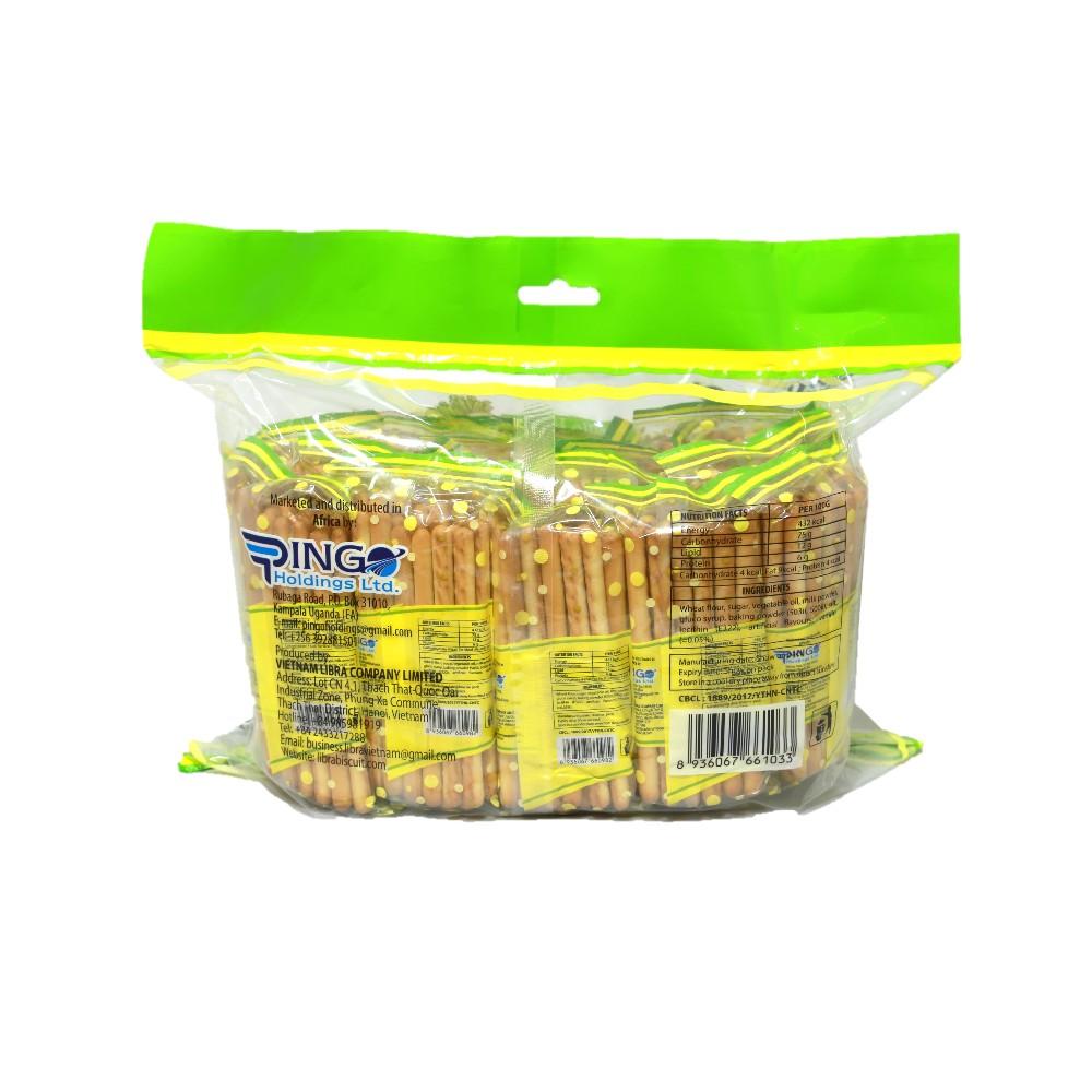 Halal Crispy Pingo Vanilla Flavor Stick Biscuits 1.1kg