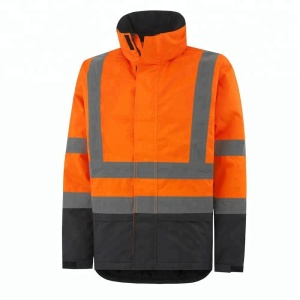 Orange Workwear Uniform Jacket/ With 50 mm Reflective Stripes and Fleece lining/Flame Retardant