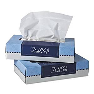 Wausau Paper DublSoft Facial Tissue, 2-Ply, 100 per Box, 30 Boxes/Carton