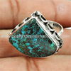 Sky blue turquoise gemstone silver wholesale rings indian 925 sterling silver jewelry manufacturer