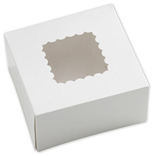 25 Count PINK 9x9x4 Bakery or Cake Box w// Signature Party Picks Southern Champion