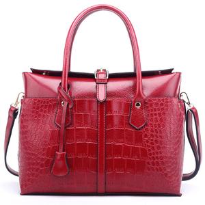 7395445f06 2019 New trend ladies briefcase pu leather shoulder bag crocodile handbag  for women