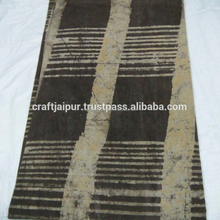 Hand block printed cotton indian tie dyed voile wholesale dressmaking fabric