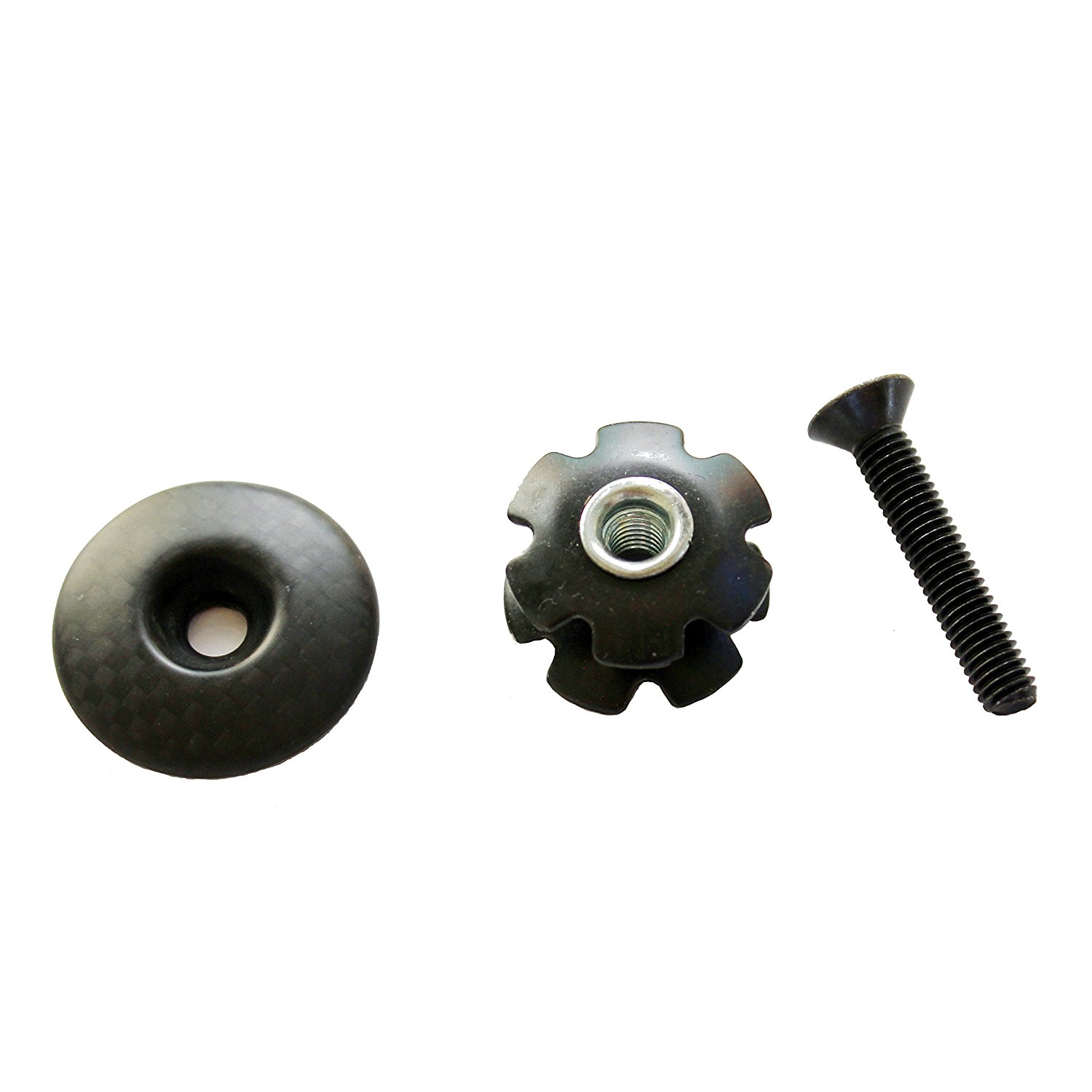 Bicycle Components & Parts Headsets Kits Top Cap Cover Bicycle Handbar Stem With Bolt Carbon Fiber Durable