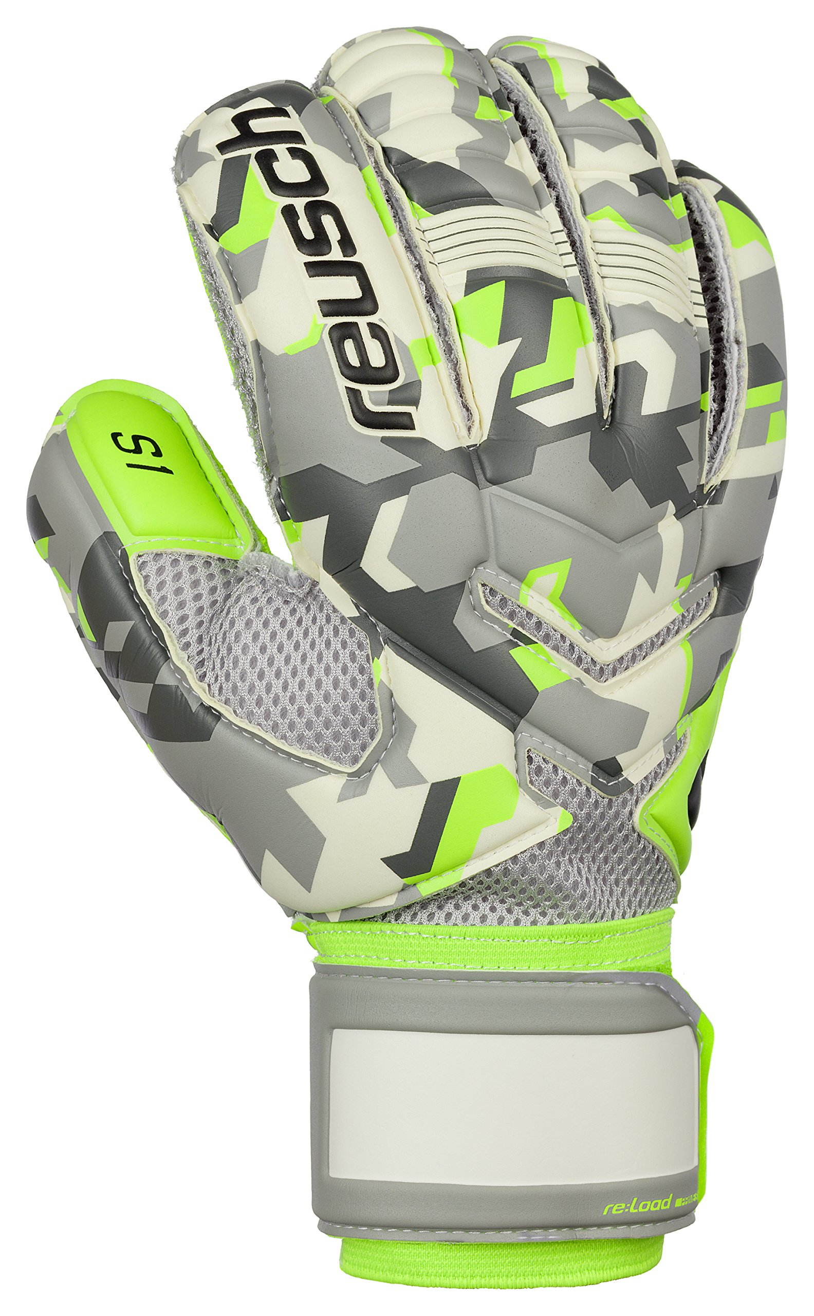 82aa1e84ab1 Get Quotations · Reusch Soccer Reusch Re: Load Prime S1 Goalkeeper Glove -  Size Reusch Re: Load