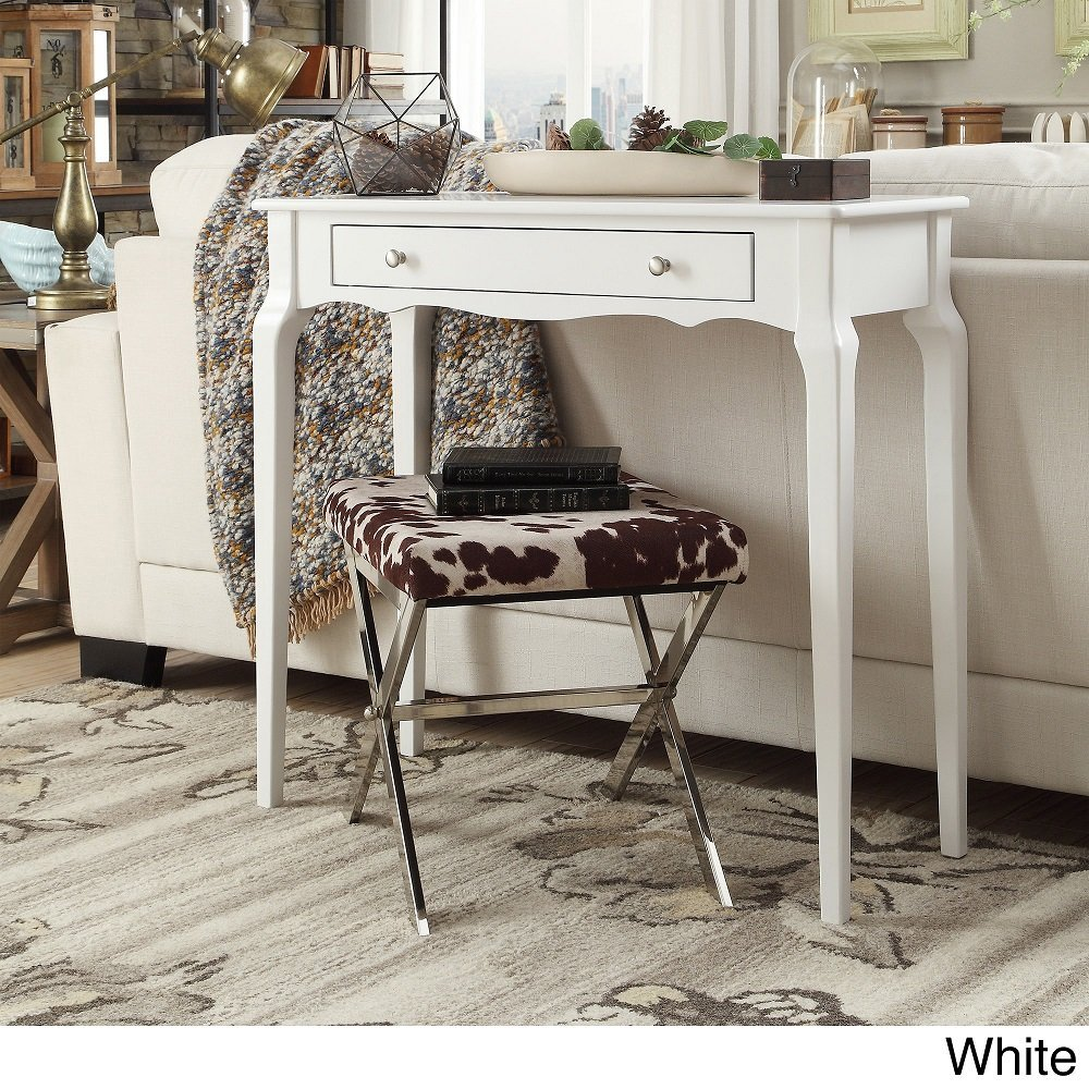 iNSPIRE Q Modern Daniella 1-drawer Wood Accent Console Accent Console Entryway Sofa Table Desk Bold White