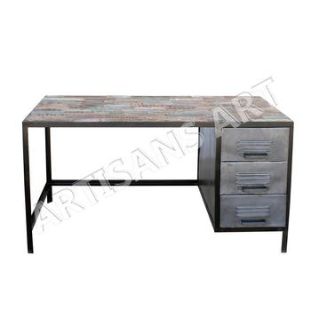 sports shoes b1f49 9f78d Vintage Industrial Reclaimed Wood And Iron Urban Office Desk,Industrial  Computer Table - Buy Rclaimed Wood Office Desk,Vintage Computer ...