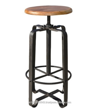 Outstanding Industrial Metal Bar Stool With Adjustable Height Antique Metal Wood Industrial Bar Stools Buy Vintage Bar Stools Vintage Industrial Metal Squirreltailoven Fun Painted Chair Ideas Images Squirreltailovenorg