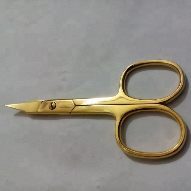 Professional Gold Plated Sharp Arrow Point Cuticle เล็บกรรไกร