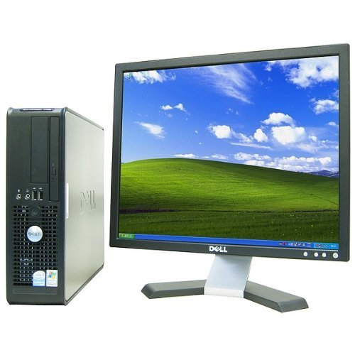 Dell Optiplex Desktop computer package featuring a 19in LCD Monitor (brands may vary), P4 2.8 GHz CPU, 1GB RAM, 40GB Hard Drive, DVD Player. Runs Windows XP Professional