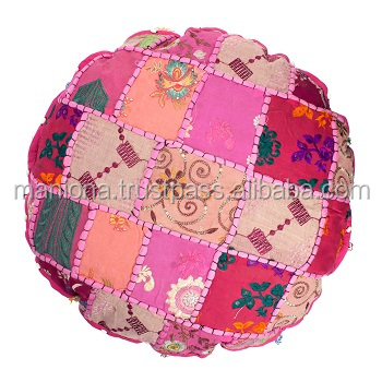Pink Pouf Floor Cushion Cover Floor Pillow Seat Cushion Pouffe Pouf Seating