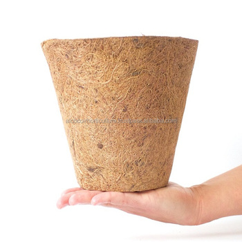 Export Quality of Biodegradable Coconut Coir Pots for Bulk Supply