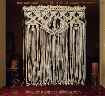 Wooden Handmade Macrame Pattern Room Partition Divider Buy Cheap