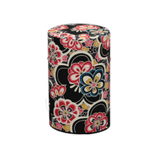 Japanese beautiful pattern tea caddy can wholesale