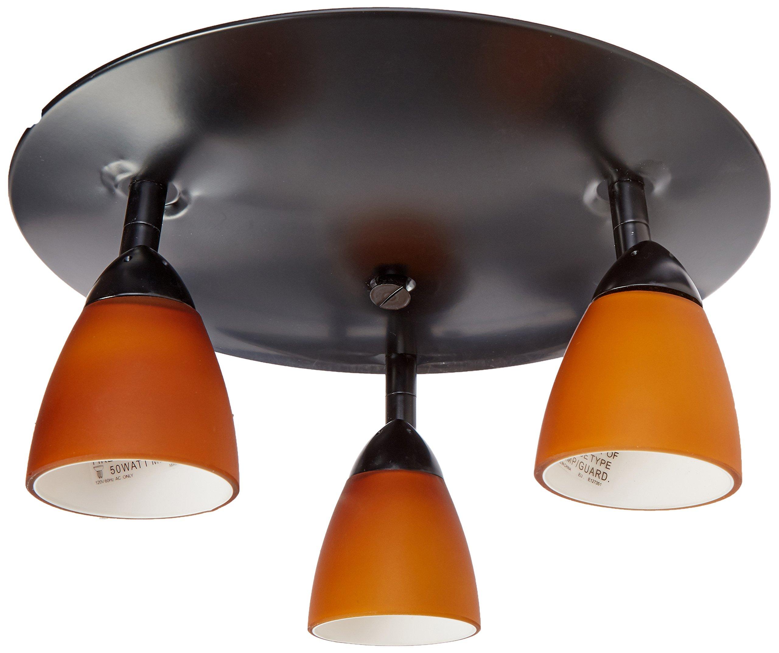 Rust Finish Cal Lighting SL-954-1-RU//MBK Spot Light with Mesh Black Shades