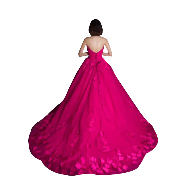 FUSCHIA PINK WEDDING DRESS BALL GOWN FOR SALE ONLINE