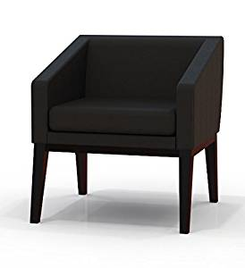 """Mayline Leather Guest Chair Leather Chair W/Wood Frame Overall Dimensions: 26""""W X 26""""D X 28.5""""H Seated Area Dimensions: 20.5""""W X 19""""D X 9""""H Seat Height: 19.5"""" - Sierra Cherry"""
