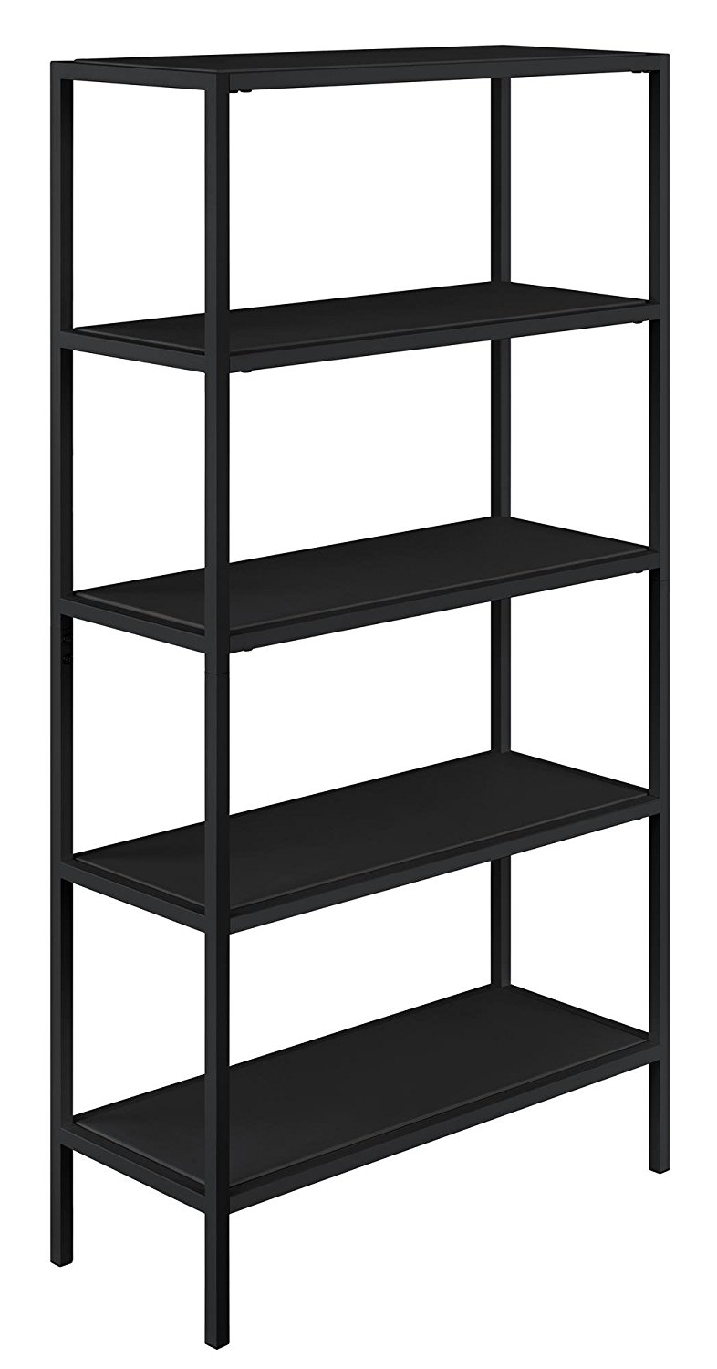Get Quotations · Novogratz 9556096COM Avondale 5 Shelf Bookcase, Black