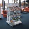 Clear Plexiglass Brochure Newspaper Holder Large Double Side Acrylic Magazine Stand