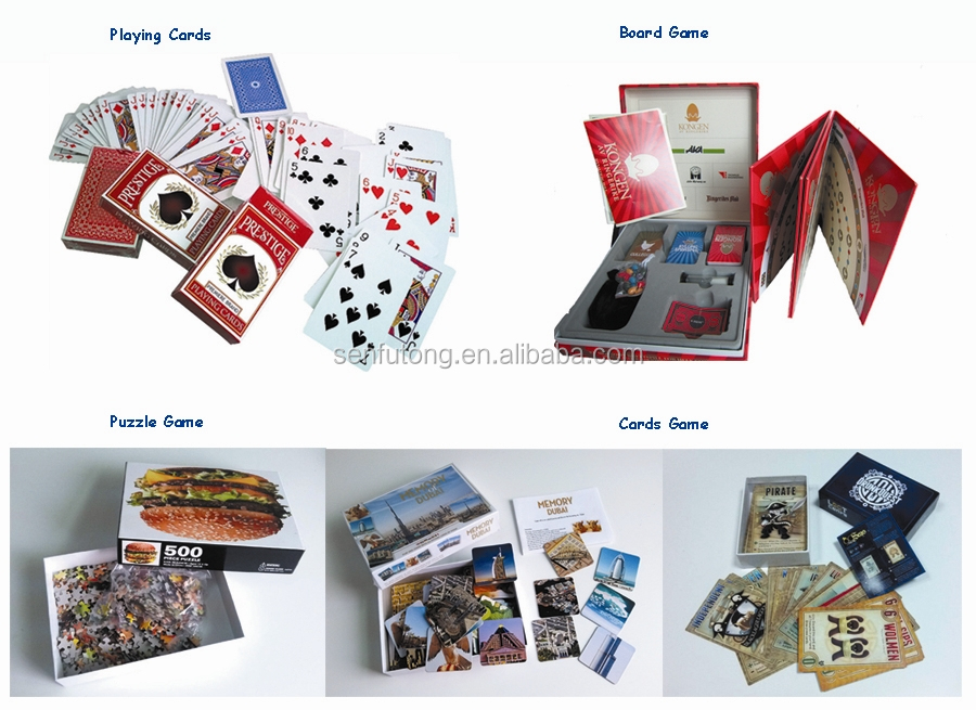 Custom Printed 300gsm Art Paper Play Card Game