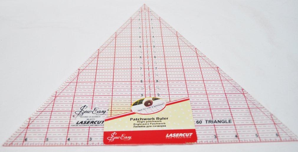 Sew Easy 14.5 Inch x 14.5 Inch Half Diamond Patchwork Quilt Ruler NL4175