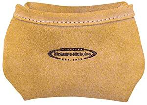McGuire Nicholas 039 Single Pocket Pouch with Belt Clip in Tan Suede Leather by McGuire Nicholas