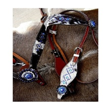 Head Stall & Breast Collar Set With Reins
