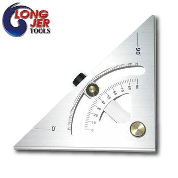 140mm Accurate Aluminum Angle Finder Metal Protractor With Laser