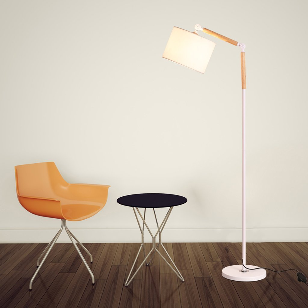 Edge To Floor lamp Nordic Living Room Floor Lamp Creative Floor Lamp Simple Floor Lamp Bedroom Vertical Light Modern Learning Floor Lamp Modern Rocker Vertical Table Lamp (Color : White)