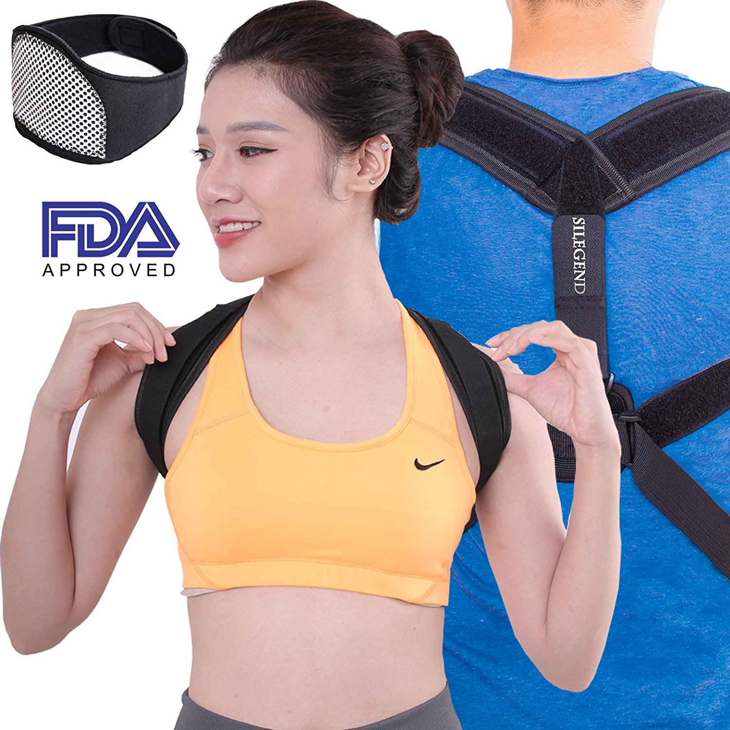 3e55fbe294 Get Quotations · Posture Corrector For Women And Men - Free Neck Brace  Premium Quality