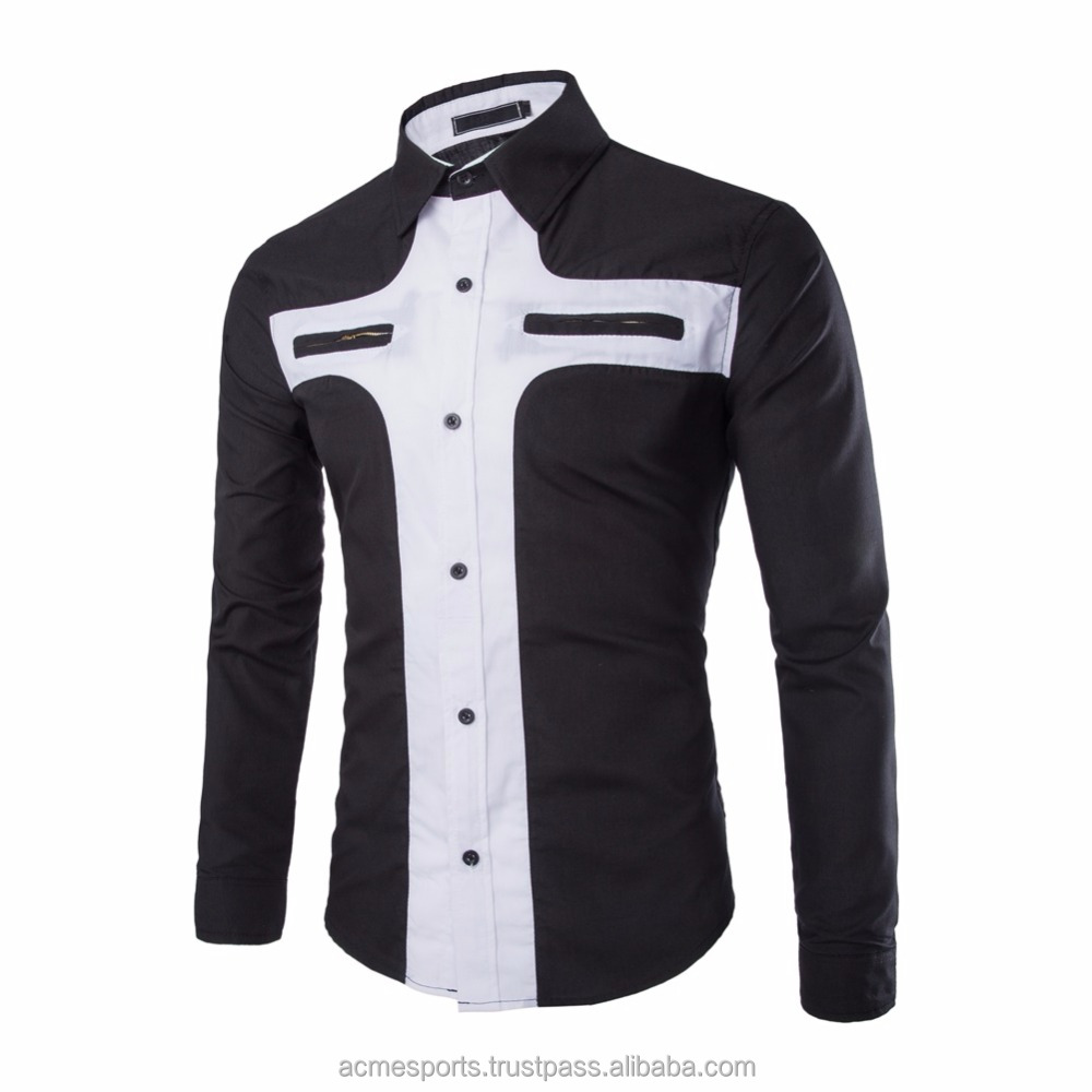 Luxury New Fashion Men/'s Slim Fit Shirt Long Sleeve Dress Shirts Casual Shirts