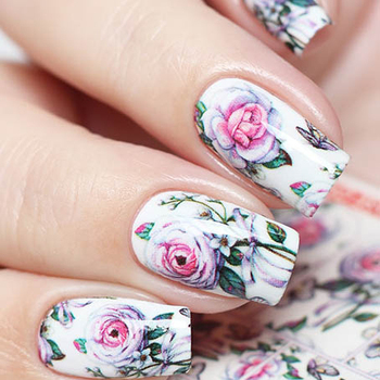 Water Decals N789 Flowers | MILV (Nail art stickers)